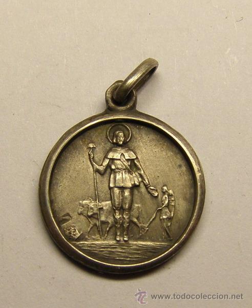 MEDALLA RELIGIOSA SAN ISIDRO LABRADOR. (Antigüedades - Religiosas - Medallas Antiguas)