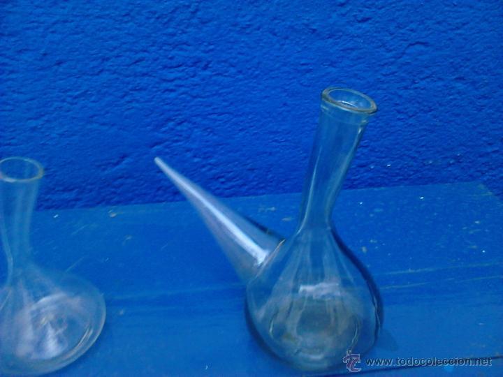 Antigüedades: Gran Porrón de cristal soplado principios s.XIX. 25 cm de largo x 25 cm altura, perfecto estado. - Foto 2 - 40054930
