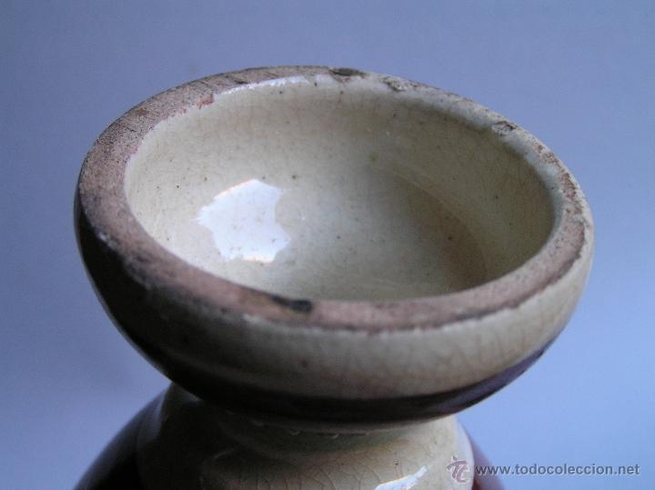 Antigüedades: JARRÓN SATSUMA DECORADO A MANO CON BASE DE MADERA TALLADA. AÑOS 30. - Foto 16 - 40070968