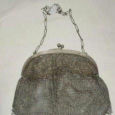 Antigüedades: ANTIGUO BOLSO DE MALLA EN PLATA 800 -. Lote 40071111