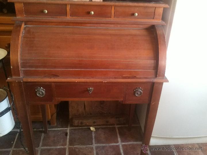 Escritorio o buro con persiana de madera de hal comprar - Ver muebles antiguos ...
