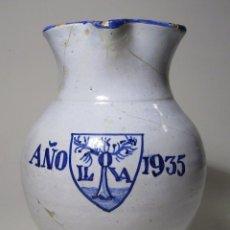 Antigüedades: JARRA CERAMICA DE TALAVERA . Lote 40087654