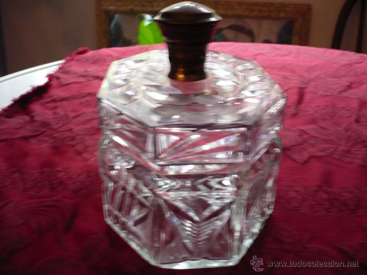 Antigüedades: Bombonera de cristal tallado con pomo de plata - Foto 2 - 40088028