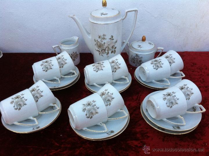 JUEGO ANTIGUO DE CAFE EN PORCELANA DE BAVARIA SELLADO ESCHENBACH (Antigüedades - Porcelana y Cerámica - Alemana - Meissen)
