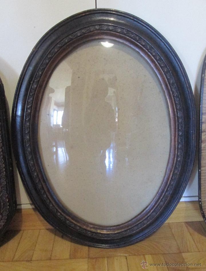 Antiguo marco en madera ovalado con cristal de comprar marcos antiguos de cuadros en - Marcos de cristal ...