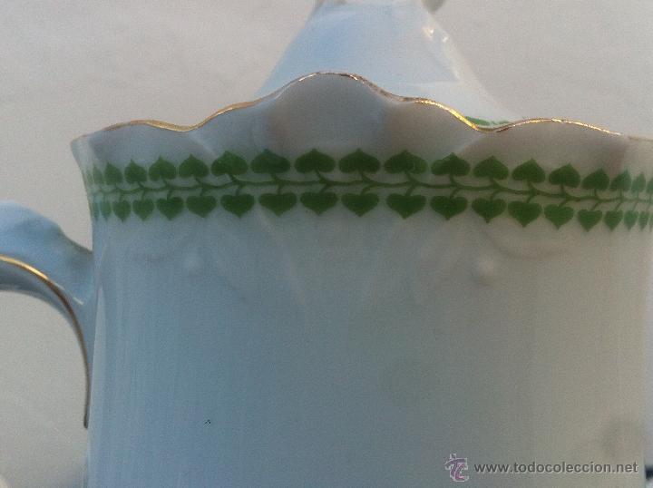 Antigüedades: JUEGO ANTIGUO DE CAFE EN PORCELANA DE BAVARIA SELLADO THOMAS SIGLO XIX - Foto 16 - 40095507