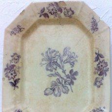 Antigüedades: PICKMAN.- ANTIGUA FUENTE OVALADA EN COLOR MALVA.. Lote 30915615
