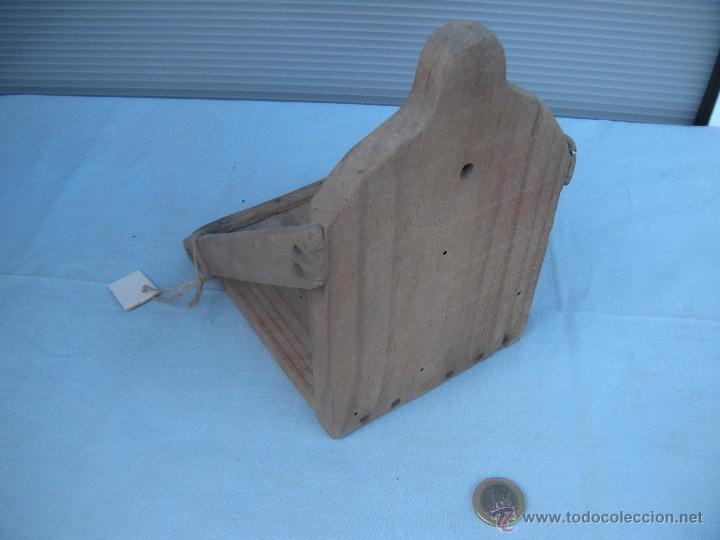 Antigüedades: ANTIGUA MENSULA REPISA DE MADERA - Foto 3 - 40118144