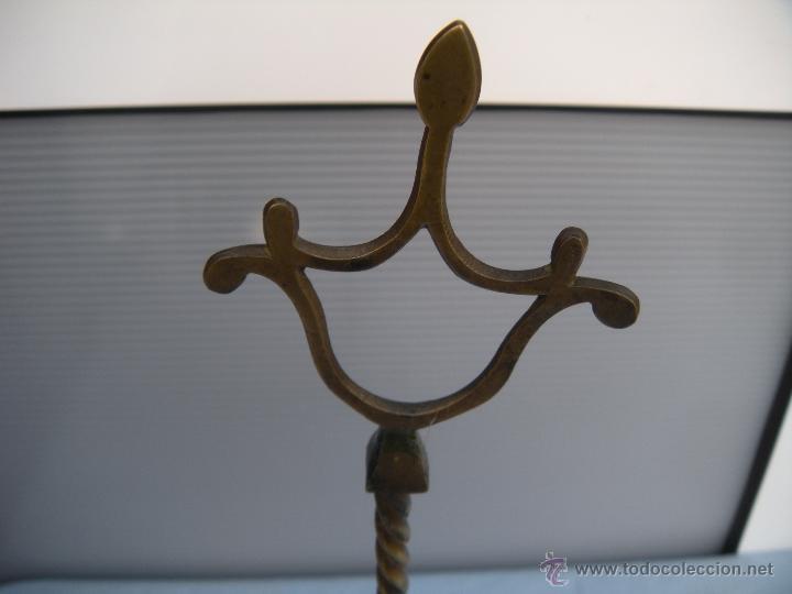 Antigüedades: ANTIGUA LÁMPARA DE ACEITE CANDIL VELÓN DE LUCENA DE BRONCE - Foto 3 - 40118293