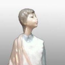 Antigüedades: JOVEN PASTOR. ESCULTRA EN PORCELANA NAO LLADRO.. Lote 40118484