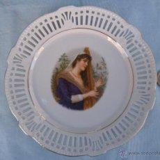 Antigüedades: ANTIGUO PLATO CALADO PORCELANA ALEMANA BAVARIA. SCHWARZNHAMMER. Lote 40158945