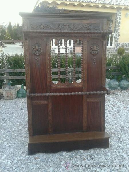 Gran mueble recibidor paraguero antiguo de ma comprar for Muebles auxiliares clasicos madera