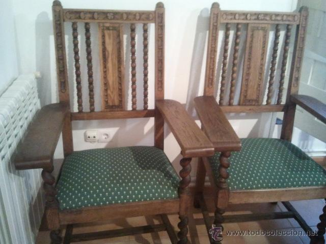 Dos sillones fraileros muy antiguos en restau comprar - Sillones antiguos restaurados ...