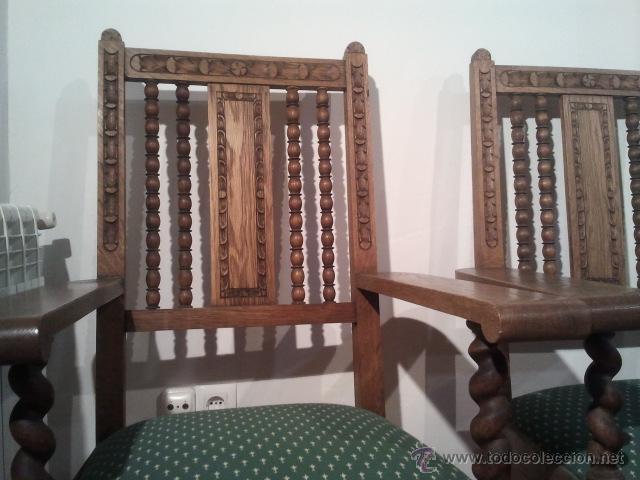 Antigüedades: DOS SILLONES FRAILEROS MUY ANTIGUOS EN RESTAURADOS antiguo sillon frailero , - Foto 2 - 40126330