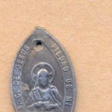 Antigüedades: MON 916 MEDALLA RELIGIOSA S.C. DE JESÚS TEN PIEDAD DE MI PURÍSIMA CONCEPCIÓN R.P.N. METAL CINC. Lote 40128138