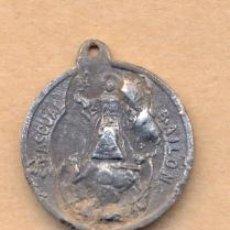 Antigüedades: MON 917 MEDALLA RELIGIOSA SAN PASCUAL BAILÓN PATRÓN DE LOS CENTROS EUCARÍSTICOS METAL CINC MEDID. Lote 40129497