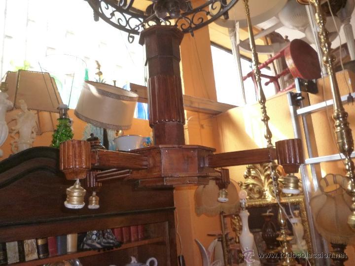 LÁMPARA DE MADERA (Antigüedades - Iluminación - Lámparas Antiguas)