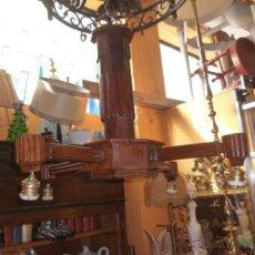 Antigüedades: LÁMPARA DE MADERA. Lote 40141673