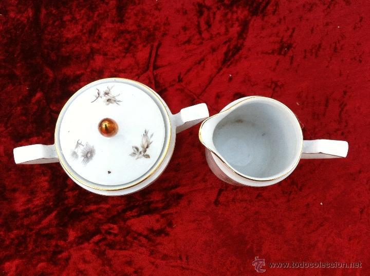 Antigüedades: JUEGO ANTIGUO DE CAFE EN PORCELANA DE BAVARIA SELLADO ESCHENBACH - Foto 10 - 40150178