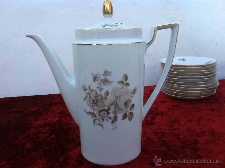 Antigüedades: JUEGO ANTIGUO DE CAFE EN PORCELANA DE BAVARIA SELLADO ESCHENBACH - Foto 13 - 40150178