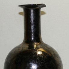 Antigüedades: JARRÓN EN CERÁMICA ESMALTADA TIPO REFLEJOS - FIRMADO EN LA BASE SERRA - AÑOS 40. Lote 69647495