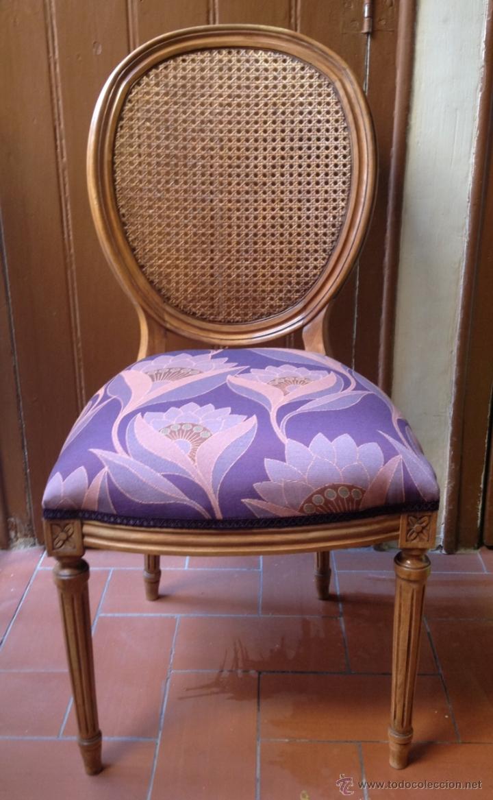 Silla estilo luis xvi con rejilla comprar sillas antiguas en todocoleccion 40177384 - Sillas estilo luis xvi ...