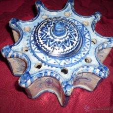 Antigüedades: TINTERO DE CERAMICA DE TALAVERA. Lote 40185902