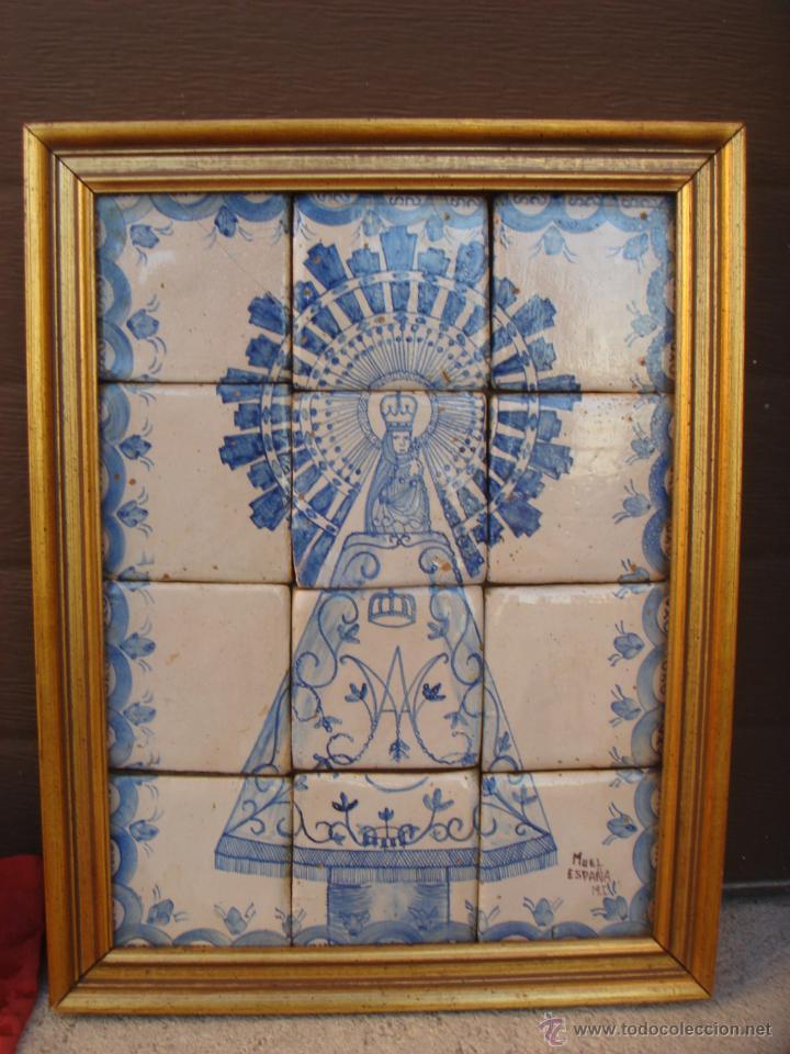 Antiguo e interesante cuadro de azulejos de la comprar - Azulejos el pilar ...