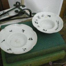 Antigüedades: PAREJA DE PLATILLOS ANTIGUOS. Lote 40194234