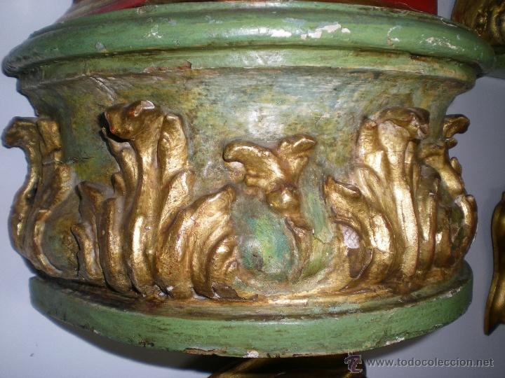 Antigüedades: PAREJA MÉNSULAS BARROCAS - Foto 2 - 40197414
