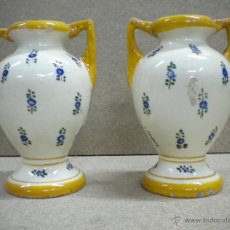 Antigüedades: PAREJA JARRONES, ALTURA 16 CM. Lote 40208945
