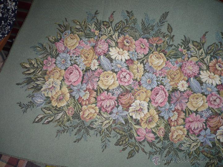Antigüedades: Tapiz de flores - Foto 5 - 40183827