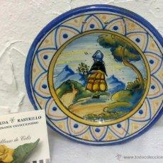 Antigüedades: NIVEIRO, TALAVERA. ORIGINAL PLATITO EN CERAMICA. PPOS. XX. Lote 29114609