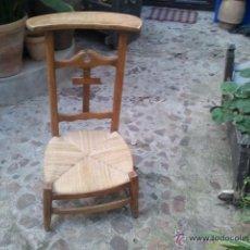 Antigüedades: ANTIGUO RECLINATORIO NOGAL. Lote 40205976