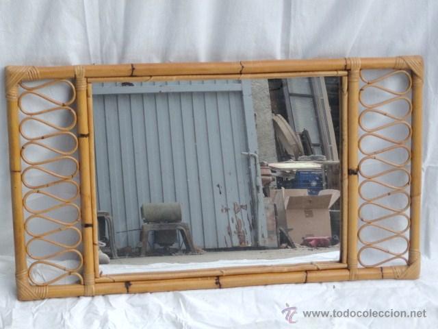 Bonito espejo de ca a bamb y mimbre comprar espejos antiguos en todocoleccion 40217603 - Espejos de mimbre ...