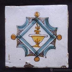 Antigüedades: C302 RAJOLA / AZULEJO CATALAN DE MUESTRA DEL SIGLO XVIII. Lote 40217285