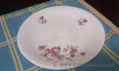 Antigüedades: Precioso y antiguo centro de mesa con pie alto decorado con flores. CARTUJA PICKMAN. - Foto 2 - 40240604