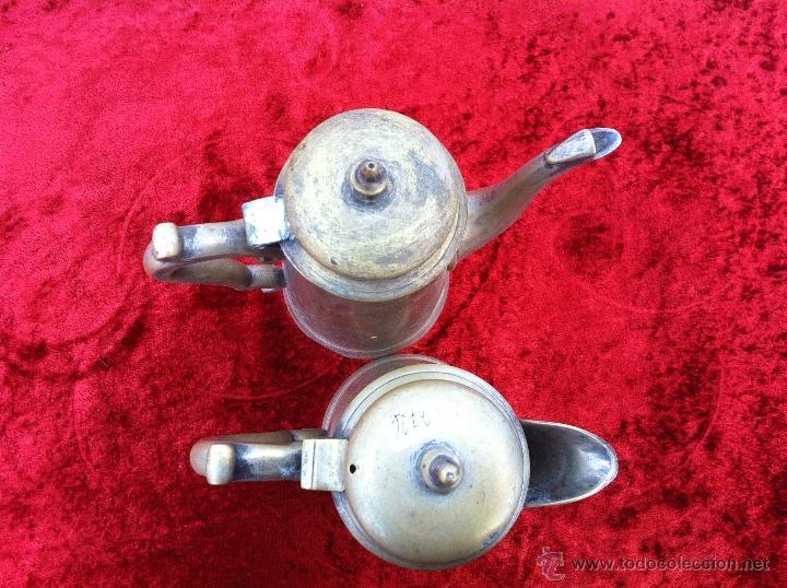 Antigüedades: JUEGO ANTIGUO DE TE Y CAFE EN METAL PLATEADO Y SELLADO E.P.N.S. - Foto 6 - 40244288