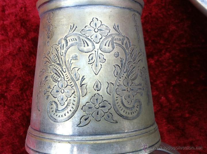 Antigüedades: JUEGO ANTIGUO DE TE Y CAFE EN METAL PLATEADO Y SELLADO E.P.N.S. - Foto 14 - 40244288