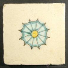 Antigüedades: C314 RAJOLA / AZULEJO CATALAN DE MUESTRA DEL SIGLO XVIII. Lote 40256543