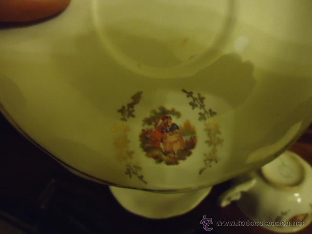 Antigüedades: lote 2 tazas y dos platos coleccion ceramica cartuja pickman , y sello - Foto 3 - 40258981