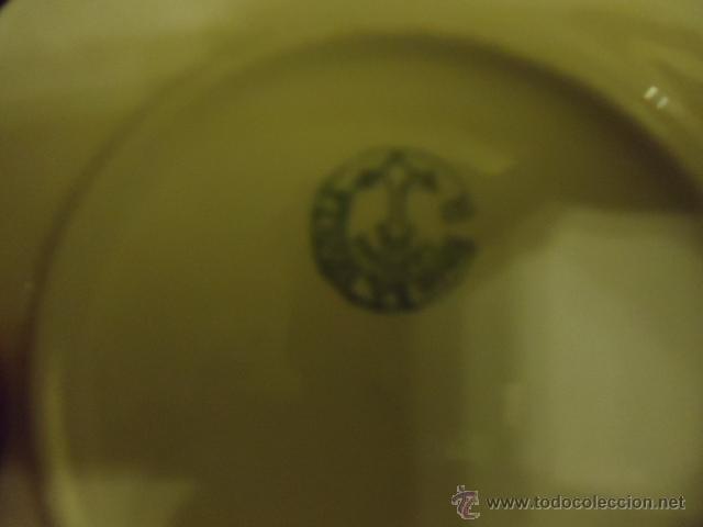 Antigüedades: lote 2 tazas y dos platos coleccion ceramica cartuja pickman , y sello - Foto 4 - 40258981