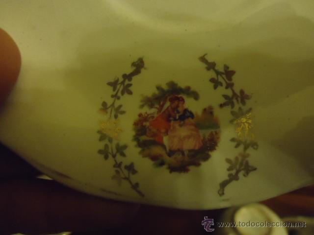 Antigüedades: lote 2 tazas y dos platos coleccion ceramica cartuja pickman , y sello - Foto 5 - 40258981