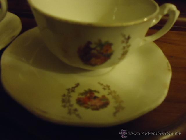 Antigüedades: lote 2 tazas y dos platos coleccion ceramica cartuja pickman , y sello - Foto 10 - 40258981