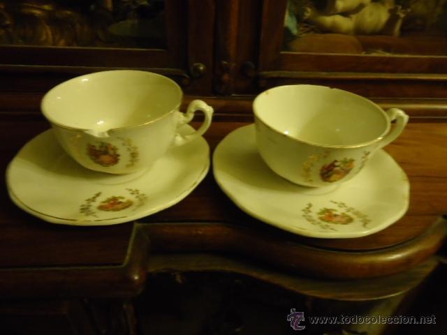Antigüedades: lote 2 tazas y dos platos coleccion ceramica cartuja pickman , y sello - Foto 11 - 40258981