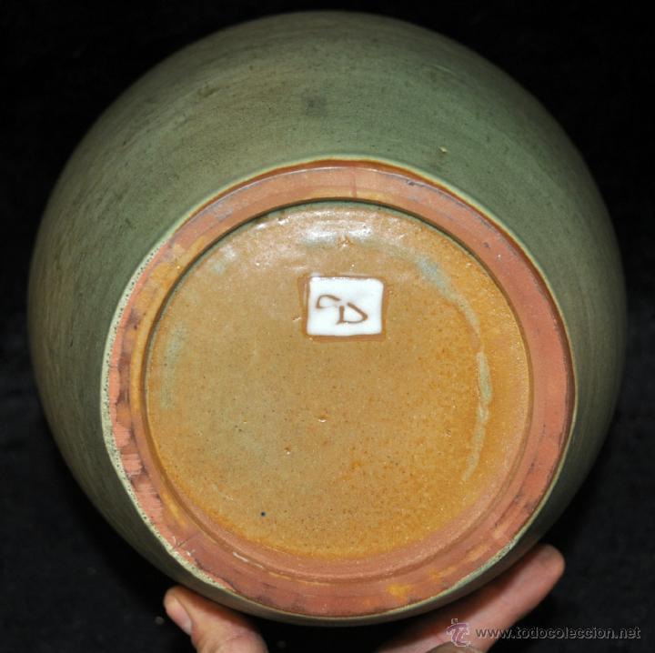 Antigüedades: JORDI AGUADE CLOS (BARCELONA, 1925) JARRON EN CERAMICA PINTADA - Foto 6 - 40279463