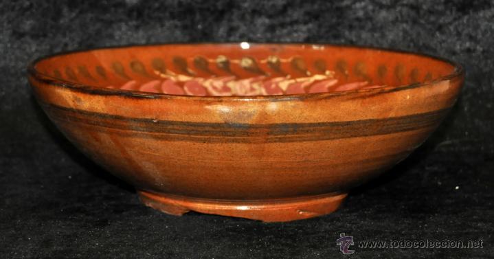Antigüedades: PLATO O CUENCO EN CERAMICA VIDRIADA DE VILA CLARA (LA BISBAL) GIRONA. - Foto 4 - 40281283