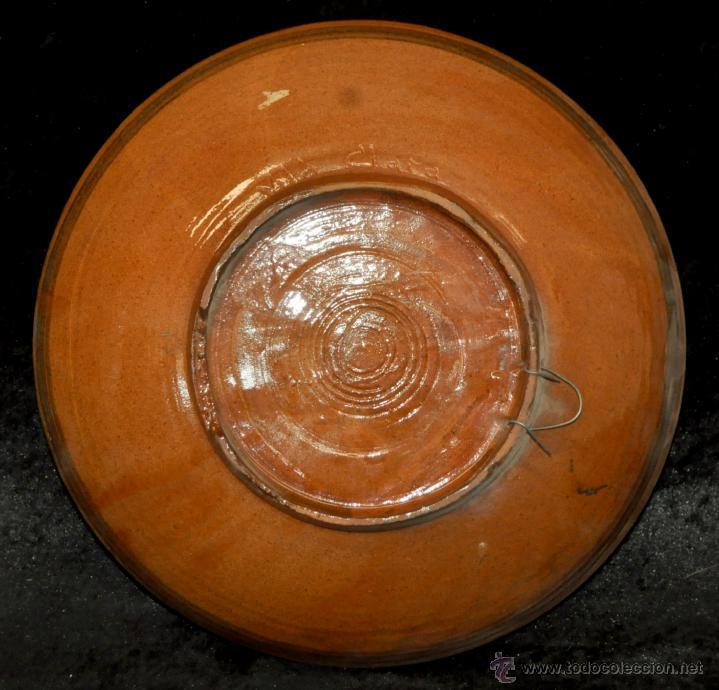 Antigüedades: PLATO O CUENCO EN CERAMICA VIDRIADA DE VILA CLARA (LA BISBAL) GIRONA. - Foto 5 - 40281283