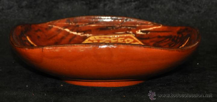 Antigüedades: PLATO O CUENCO EN CERÁMICA VIDRIADA DE VILA CLARA (LA BISBAL) GIRONA. - Foto 4 - 40281390