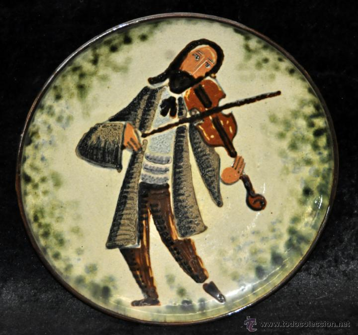 PLATO EN CERÁMICA VIDRIADA DE VILA CLARA (LA BISBAL) GIRONA. (Antigüedades - Porcelanas y Cerámicas - La Bisbal)